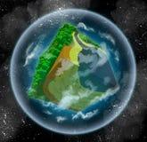 Denkbeeldige kubieke planeet stock illustratie