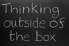 Denken außerhalb des Kastens Stockfotos