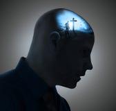Denken an das Kreuz stockfoto