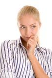 Denken der jungen Frau Lizenzfreies Stockbild
