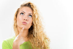 Denken der jungen Frau Lizenzfreie Stockbilder