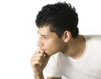 Denken des jungen Mannes Stockfotografie