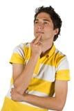 Denken des jungen Mannes Stockfoto