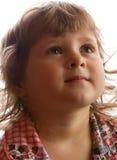 Denken des kleinen Mädchens Lizenzfreie Stockbilder