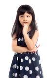 Denken des kleinen Mädchens Lizenzfreies Stockbild