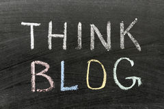 Denken Sie Blog Stockbilder