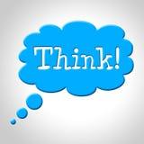 Denken Sie das Gedanken-Blasen-Durchschnitt-Erwägungs-Plan und Reflektieren lizenzfreie abbildung