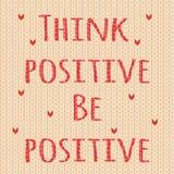 Denken Sie, dass Positiv positiv ist lizenzfreie abbildung