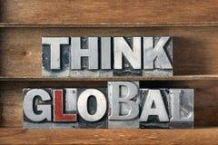 Denken Sie globalen Behälter Stockfoto