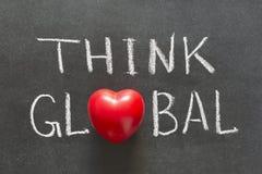 Denken Sie globales Lizenzfreies Stockfoto