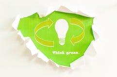 Denken Sie Grün! Lizenzfreies Stockfoto
