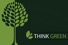 Denken Sie grünen Konzepthintergrund - Vektor Stockbilder