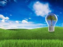 Denken Sie grünes Konzept Lizenzfreie Stockfotos