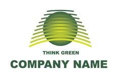 Denken Sie grünes Zeichen Stockfotografie