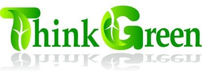 Denken Sie Grün Lizenzfreie Stockfotos