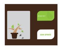 Denken Sie grünen Konzepthintergrund - Vektor Lizenzfreies Stockfoto