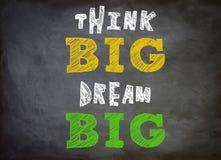 Denken Sie groß- Traumgroßes Stockfoto
