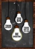 Denken Sie großes, seien Sie kreativ stockbilder