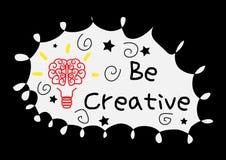 Denken Sie kreatives lizenzfreie abbildung