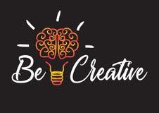 Denken Sie kreatives stock abbildung