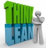 Denken Sie mageres Person Thinking Efficient Business Management-Produkt Stockfotos