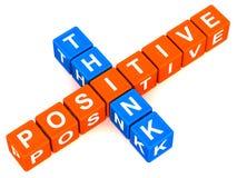 Denken Sie Positiv lizenzfreie abbildung