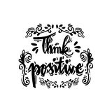 Denken Sie Positiv stock abbildung