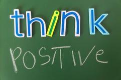 Denken Sie Positiv oder Negativ Stockfoto