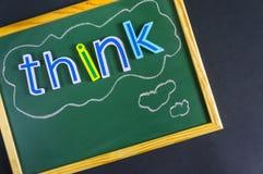 Denken Sie Positiv oder Negativ Lizenzfreies Stockfoto