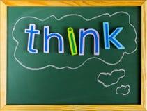 Denken Sie Positiv oder Negativ Stockbilder