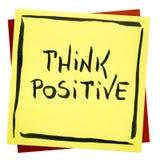 Denken Sie positive inspirierend Anzeige stockfoto