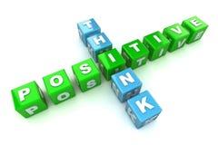 Denken Sie positive Konzept-Abbildung Stockfoto