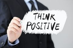 Denken Sie positives Gesch?fts-Konzept lizenzfreie stockbilder