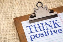 Denken Sie positives Konzept lizenzfreie stockbilder