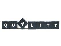 Denken Sie Qualität Stockfoto