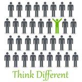 Denken Sie unterschiedliches Lizenzfreie Stockfotos