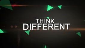 Denken Sie unterschiedliches und seien Sie kreative Schleifungsanimation stock footage