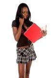 Denkend Schoolmeisje Royalty-vrije Stock Fotografie