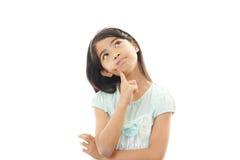 Denkende asiatische Mädchen Stockfotos