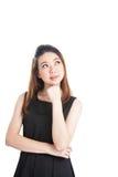 Denkende bedrijfsvrouw Stock Afbeelding
