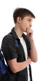 Denkende contemplatieve student royalty-vrije stock foto