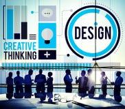 Denkende de Ideeënontwerper Concept van de ontwerpcreativiteit Stock Fotografie
