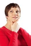 Denkende Frau Stockfotografie