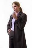 Denkende Geschäftsfrau Stockfoto