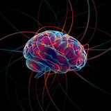 Denkende hersenen Royalty-vrije Stock Foto's
