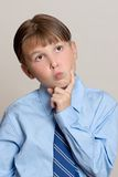 Denkende Jongen Royalty-vrije Stock Afbeeldingen