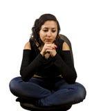 Denkende junge Frau Lizenzfreie Stockfotografie