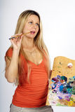 Denkende kunstenaar Royalty-vrije Stock Afbeeldingen