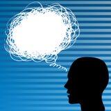 Denkende mens royalty-vrije illustratie