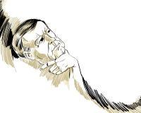 Denkende mens. stock illustratie